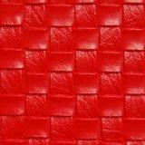 合皮 生地 編み込み風 赤色(レッド)