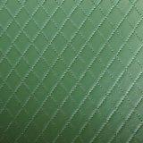 合皮 生地 ダイヤ柄 緑色(グリーン)