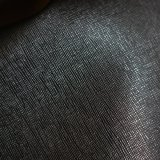 合皮 生地 サフィアーノレザー調 黒色(ブラック)