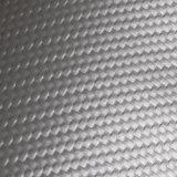 合皮 難燃 生地 カーボンレザー(PVC) 銀色(シルバー)